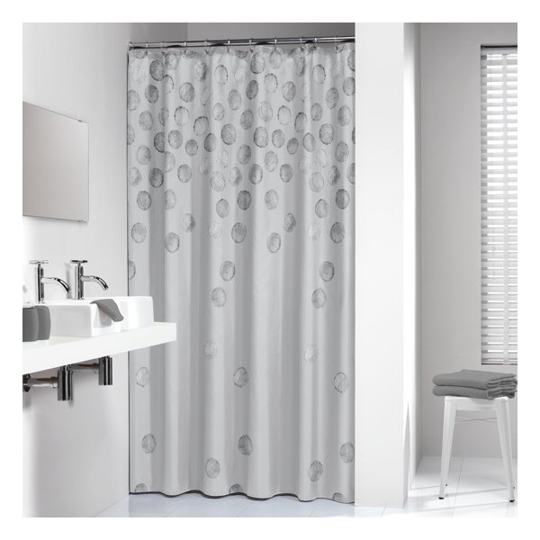 Sealskin Spotlights Shower Curtain 180x200 cm Silver
