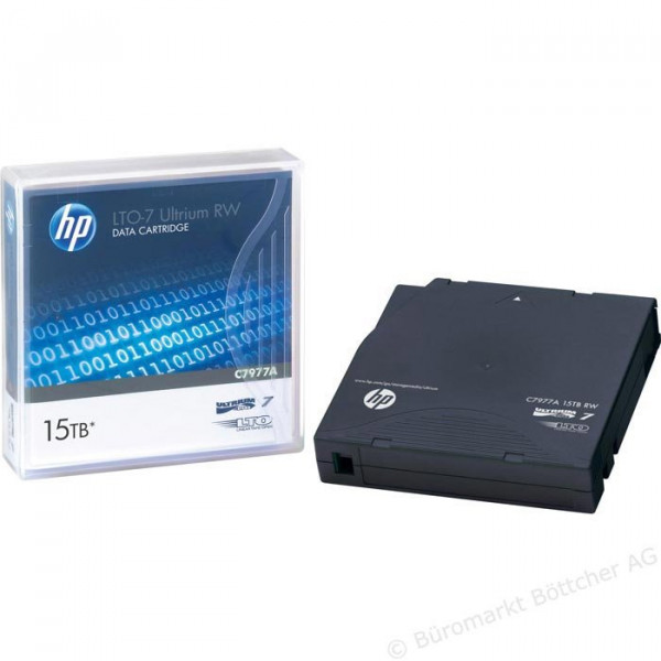 HP e LTO-7 Ultrium 15 TB RW Data Cartridge C7977A