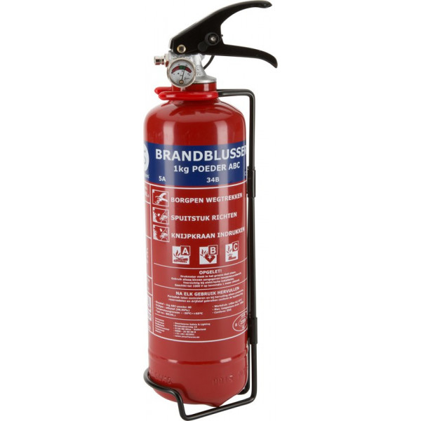 SMARTWARES BB1EN.3 Fire extinguisher Powder Including hanging bracket Fire classification abc 1KG Nederland 10.014.66