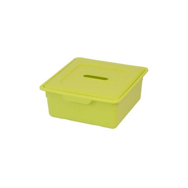 IRIS Smiley Kids Drawer Box Storage box with lid 10L Plastic Green
