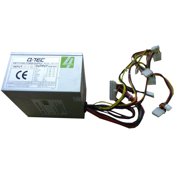 QTEC  Q-Tec 300 Watt ATX Power Supply ~ ADT-300
