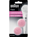 BRAUN Face 80-S 2 Replacement Brushes Designed for Face Bursh Extra Sensitive FACE80-s