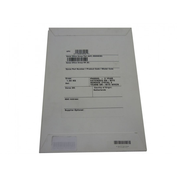 XEROX Warranty EXT/2YR Onsite for Phaser 6500 6500ES3