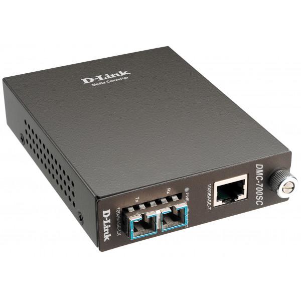 D-LINK 1000BASET to 1000BASESX (SC) Multimode Media Converter DMC-700SC